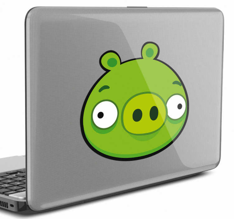 Sticker Angry Birds roi cochon pour PC portable
