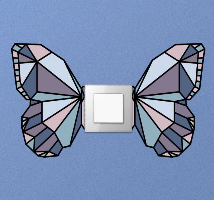 TenStickers. Butterfly Switch  light switch cover decal. Decorative and easy to apply light switch cover decal with butterfly design to apply on any flat switch area in the home.