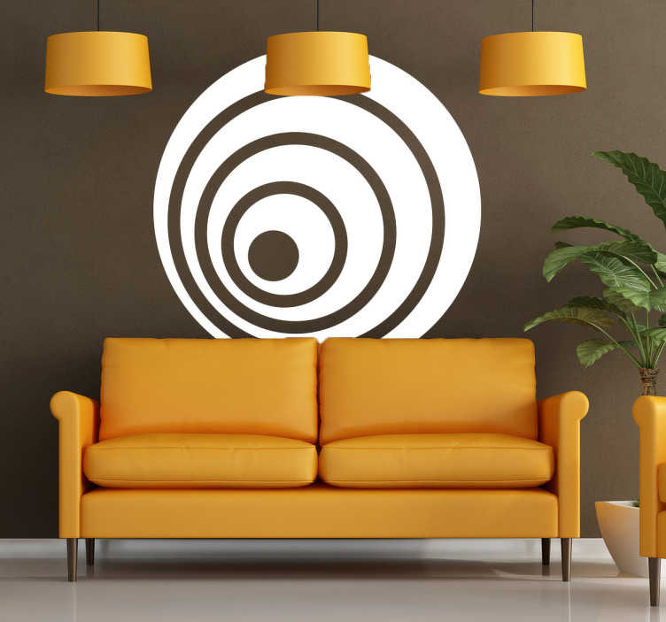TenStickers. Decorative Concentric Sticker. Decorative concentric decal which can create an amazing effect in your home. Design from our collection of modern wall stickers.