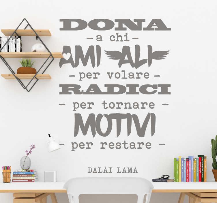 TenStickers. sticker motivazionale dalai lama. Decora lo spazio delle pareti della casa con questa stickermotivazionale ispirata al dalai lama con un bel testo in stile e caratteristiche di design.