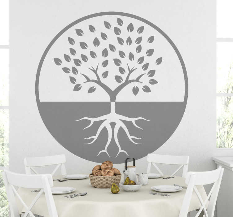 TenStickers. Tree life tree wall decal. Easy to apply decorative wall vinyl decal of a tree art in silhouettes. the design is available in different colour and sizes.