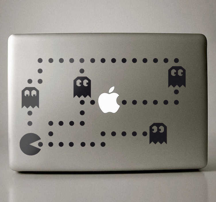 Sticker decorativo Pacman para MacBook