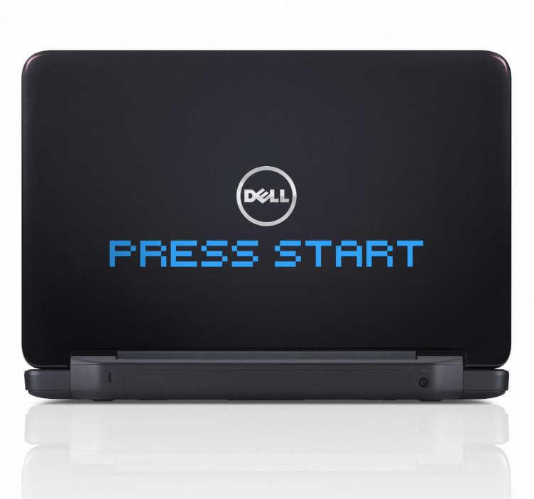 Sticker PC portable Press start