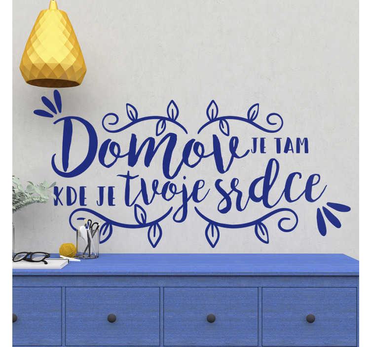 TenStickers. Domů domů text nálepky na zeď. Koupit náš dekorativní vinyl obtisk vytvořený s okrasnými květinami a textem pro povrch domovské zdi. Lze použít na jakýkoli plochý prostor.