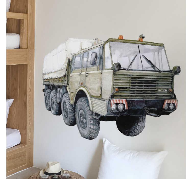 TenStickers. Tatra 813 ilustrace nástěnné umění. Dekorativní nálepka na zeď pro děti vytvořená s tetra 813 a bude vypadat tak úžasně na povrchu zdi. Snadno použitelný lepicí vinyl.
