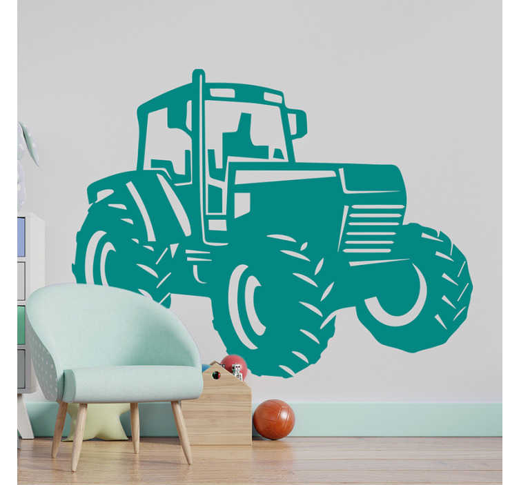 TenStickers. Zetro Tractor illustration wall art. Easy to apply vinyl wall sticker of a Zetro tractor for the decoration of any wall space.It can be used on any  flat surface also in the size you want.