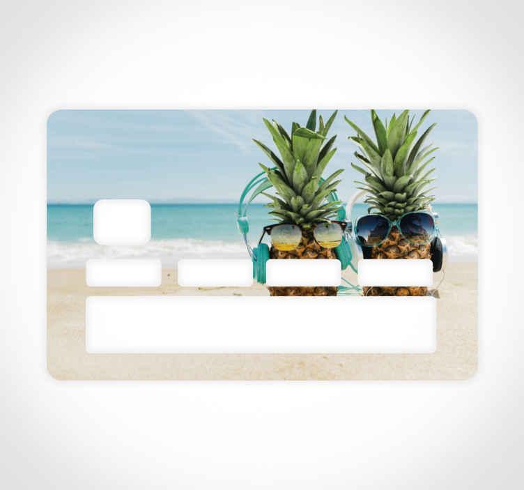 TENSTICKERS. ホリデークレジットカードステッカー. 休暇をテーマにしたこのビニールステッカーで銀行デビットカードの表面を飾ります。接着ビニールを非常に簡単に適用できます。