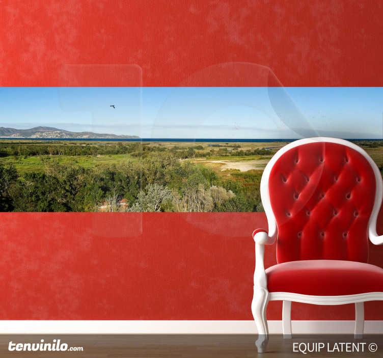 TenStickers. Mooi uitzicht foto sticker. Breng deze mooie uitzicht naar je woning met deze foto muursticker! Deze sticker zal je huis interessanter en rustgevender maken!