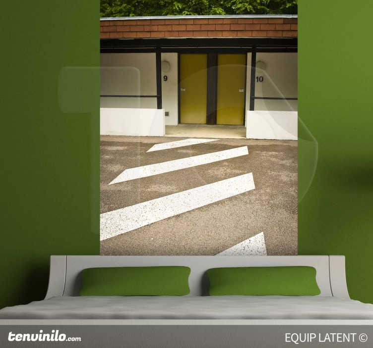 TenStickers. Photo murale chambre motel. Idée déco pour les murs de la chambre à coucher ou le salon. Photo murale représentant les motels typiquement américain des routes. Photographie par Latent Estudi.