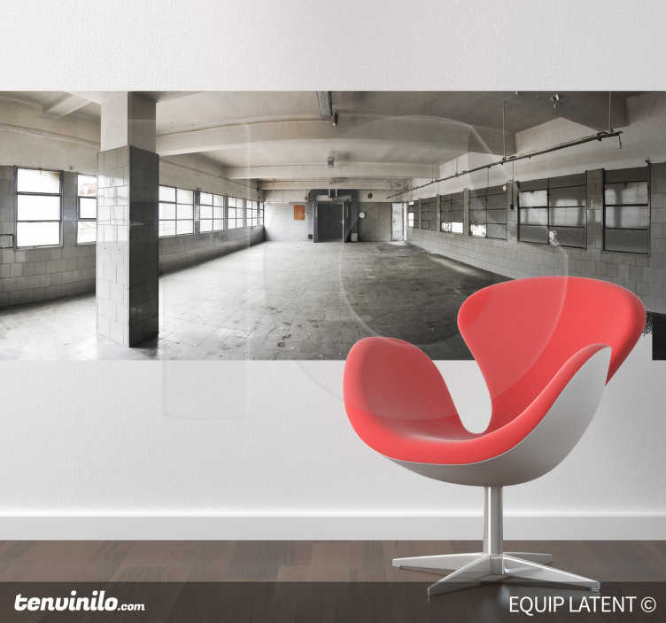 TenStickers. Interior Factory Wall Mural. Photo Murals - Image of an empty room in a factory.Latent Estudi Photography for your home or business.