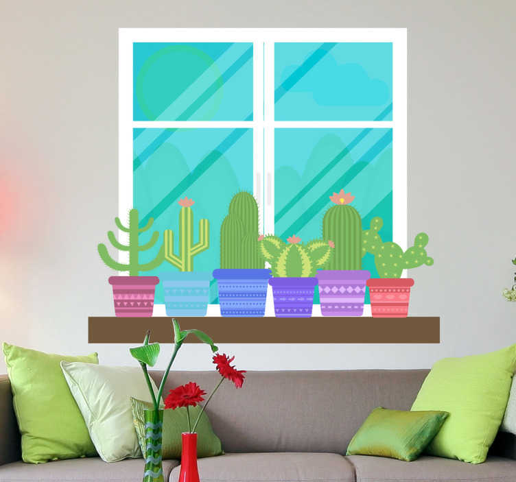 TenStickers. Garden Window Wall Mural. Photo Mural - Latent Estudi Photography. Shot of a back garden, ideal for creating light in the living room. Available in various sizes.
