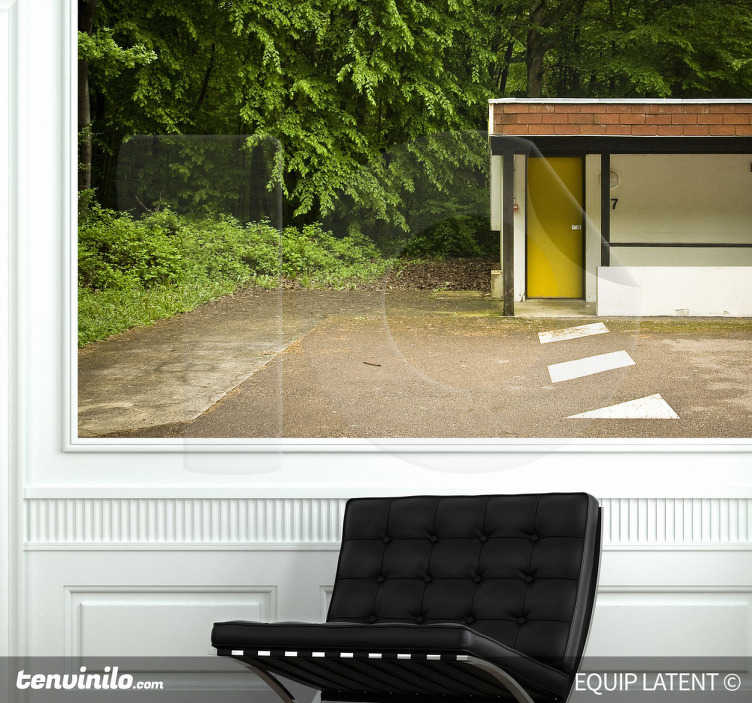 TenStickers. Forest Motel Wall Mural. Photo Mural - Latent Estudi Photography. Shot of a motel in the forest. Available in various sizes.