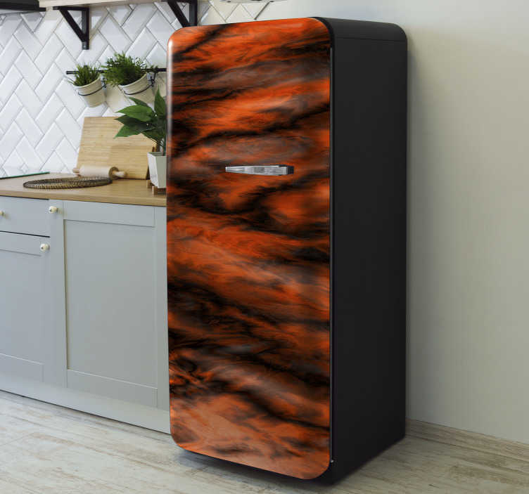 TenStickers. Marble gradient fridge wrap. Decorative fridge vinyl wrap sticker with the design of  gradient marble. Easy to apply and customizable in size to fit any surface.