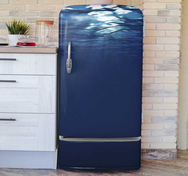 TenStickers. undersea fridge wrap. This  gorgeous undersea fridge sticker is what you need for getting in your kitchen something capable of improving all the environment!