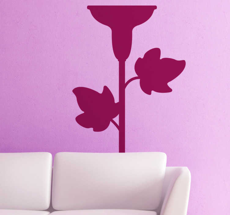 TenStickers. Candelabra with Leaves Sticker. Sticker of a classic candelabra with leafs. Elegant decal to decorate your home. Give your home an original look.