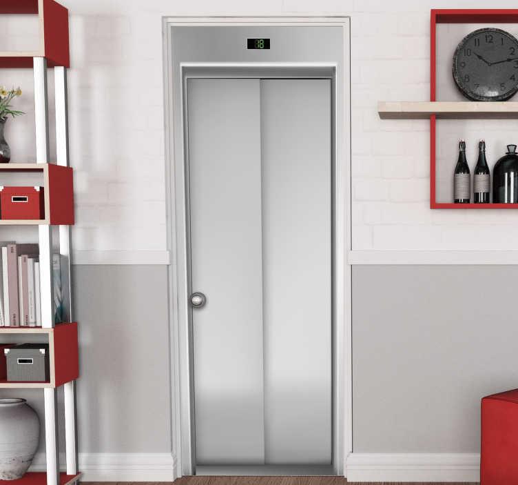 TenVinilo. Vinilo adhesivo de puerta de ascensor. Vinilo decorativo para puerta de puerta de ascensor. Elígelo en el tamaño que mejor se adapte a la superficie. Fácil de aplicar.