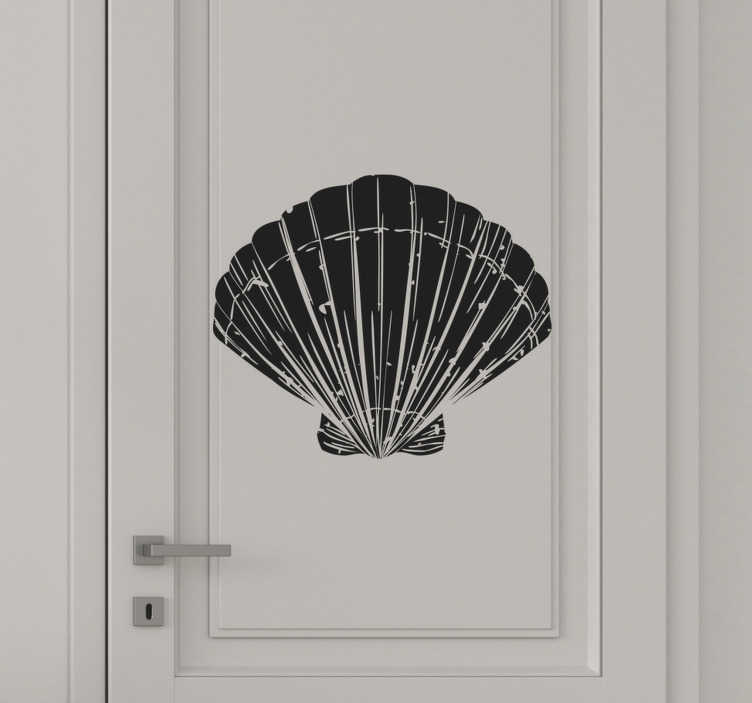 TenStickers. Shell man and woman glass door decal. Buy our decorative vinyl door sticker design of marine shell available in about 50 different colours to choose from.Easy to apply on any flat surface.