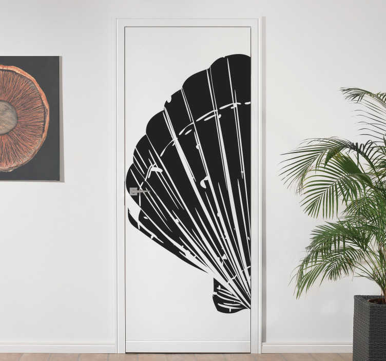 TenStickers. Shell glass door decal. Decorative door sticker design of a marine shell to beautiful it in the colour of your choice. Available in 50 different colours to choose.