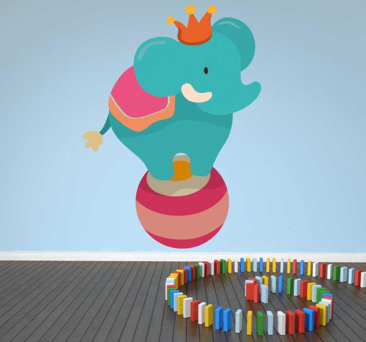 Sticker enfant éléphant cirque