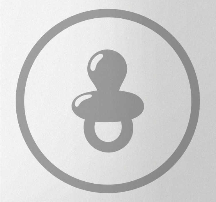 TenVinilo. Vinilo decorativo chupete bebé. Vinilo adhesivo chupete para bebés que se aplica en la puerta para simbolizar un cambiador para niños. Cómprelo en el tamaño y color de preferencia.
