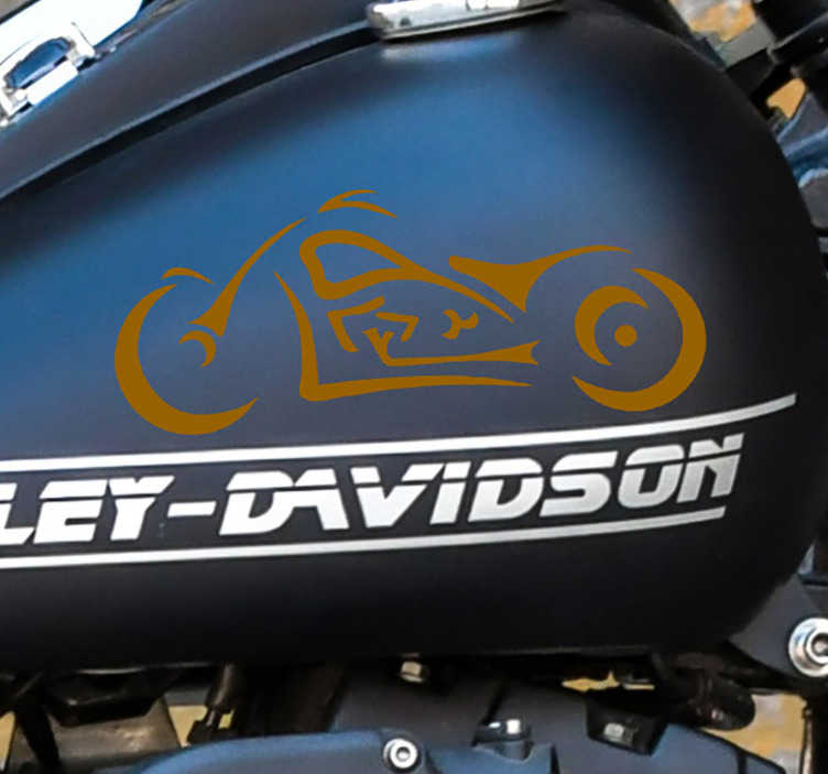 TenStickers. Harley sihlouette Motorcycle stickers. A personality sport decal of Harley Davidson to decorate the surface of any vehicle or motorbike.  Available in different size s and colours.