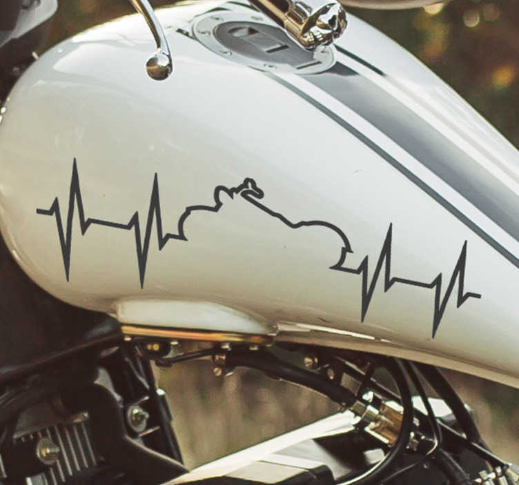 TenStickers. Heartbeat custom Motorcycle stickers. Buy our decorative vinyl custom decal of heartbeat trail available in different sizes and the colours. Easy to apply on any flat surface.