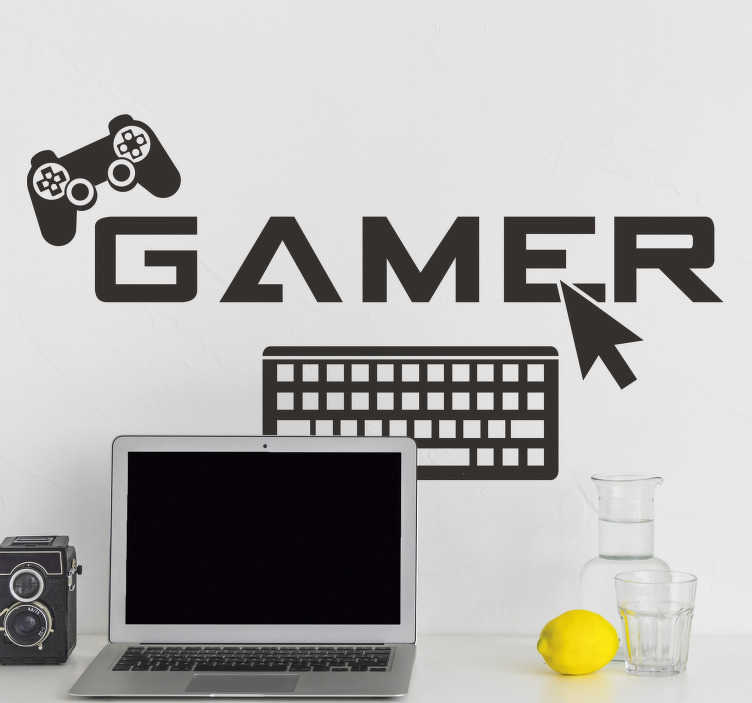 TenStickers. Gamer video game wall sticker. Video game vinyl wall sticker to decorate any surface of choice. It is available in different colours and sizes. Easy to apply 
