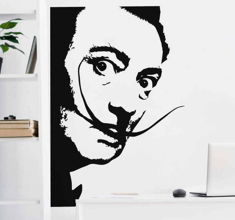 TenStickers. Dali's Look character wall decal. An original character wall sticker with the design drawing personality of Dali's look. Buy it in the best suitable size for a desired space.