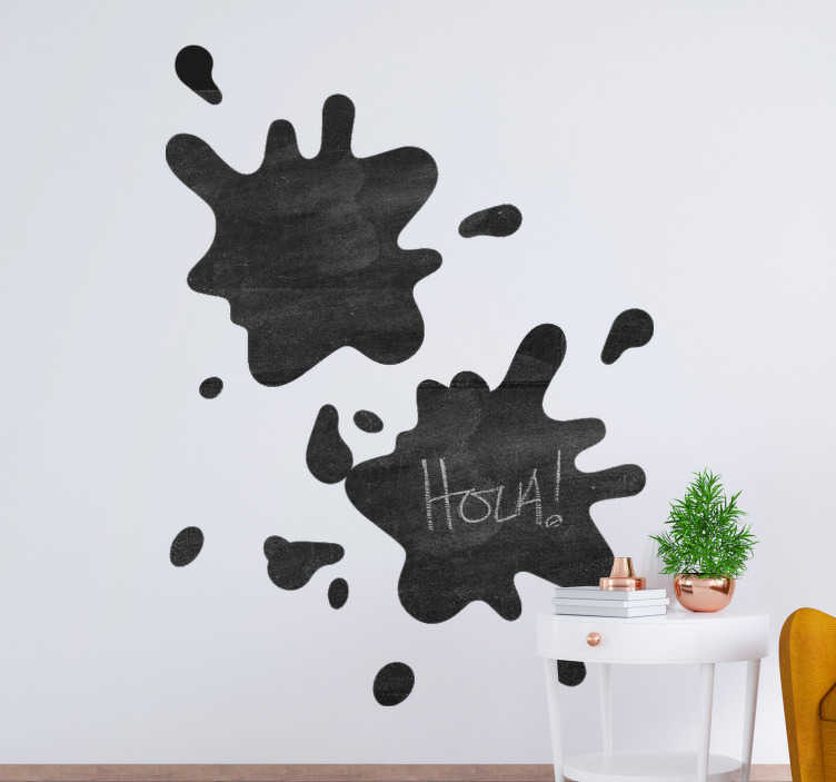 TenStickers. Chalkboard spot  sticker to write on. Write on sticker for all flat wall surface. Choose it in the best suitable size. Easy to apply and self adhesive from the best quality material.