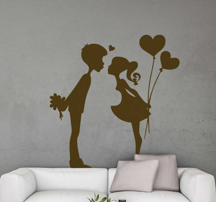 Tenstickers. Nuori suudella pari rakastaa seinä tarra. Rakkaus kodin seinä tarra kahden teini suudella siluetti malli. Osta se yhdessä vaihtoehdon väreistä ja kokoista.