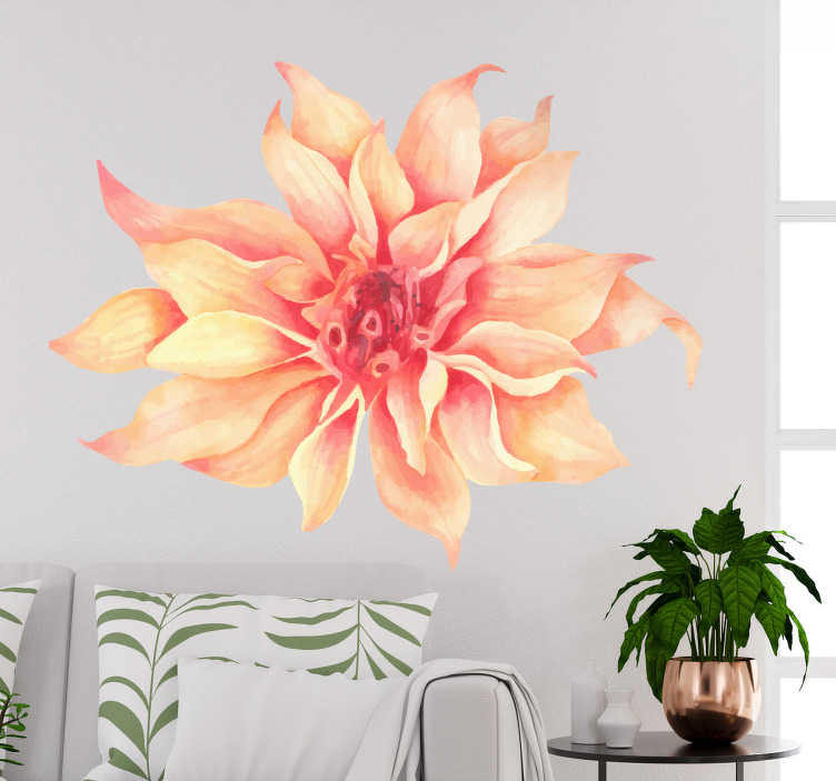 TenStickers. Carnation flower wall decal. Decorative home wall sticker with the design of carnation flower. Ideal for any space in a home. Easy to apply and available in any required size.