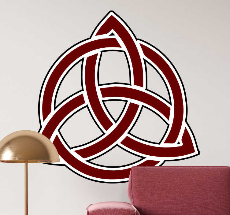 TenStickers. Red Triglav wall decal. Decorative red triglav wall sticker created with the original representation symbol of the slovic tribe. Easy to apply. Choose a suitable size.