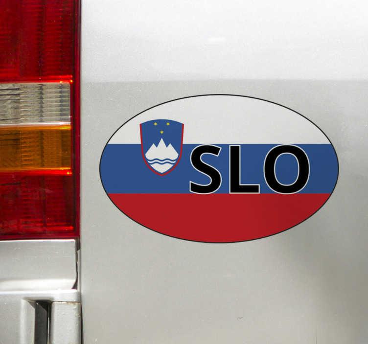 TenStickers. Slovenska zastava car decal. Okrasna avtomobilska vinilna nalepka z obliko slovenske zastave. Enostaven za uporabo in na voljo v različnih velikostih. Narejena iz najbolj kakovostnega vinila.