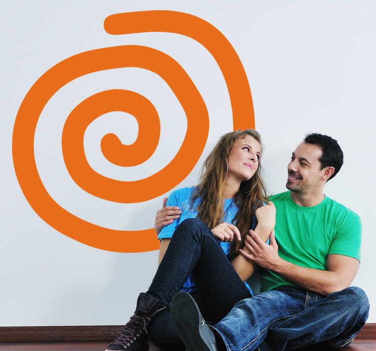 TenStickers. Sticker decorativo spirale. Wall sticker che raffigura una semplice spirale con la quale potrai decorare qualsiasi spazio della tua casa.
