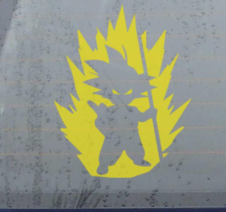 TenVinilo. Vinilo para coche San Goku Dragon Ball. Vinilo decorativo para coche de San Goku de Dragon Ball para decorar la ventana o el capó de cualquier vehículo. Fácil de colocar ¡Envío a domicilio!