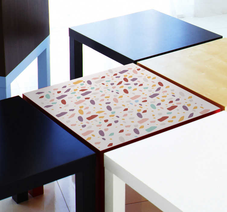 TenStickers. Table colorful stones furniture decal. Decorative colorful stones texture prints furniture sticker for tables and cabinet surface. Easy to apply and self adhesive.