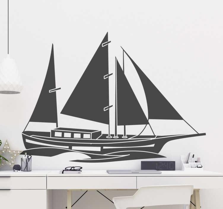 TenVinilo. Vinilo decorativo náutico barco vintage. Vinilo decorativo de barco náutico para decorar cualquier superficie de pared plana para crear un ambiente exclusivo ¡Envío a domicilio!