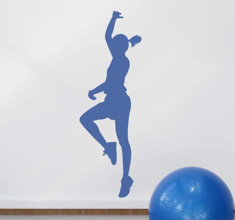TenStickers. Hip hop dancing woman silhouette wall sticker. Dance wall art decal of a hip hop female dancer . It is available in different colours and sizes. Easy to apply and self adhesive.