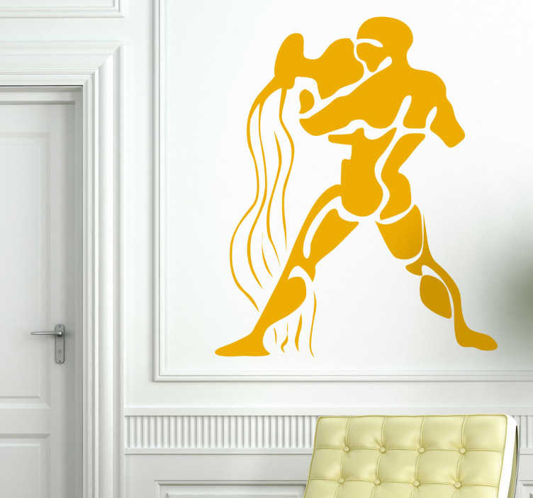 TenStickers. Horoscope Aquarius Wall Sticker. Decorative wall decal of the Aquarius star sign. Ideal sticker for those born during the period of January 21st - February 19th.