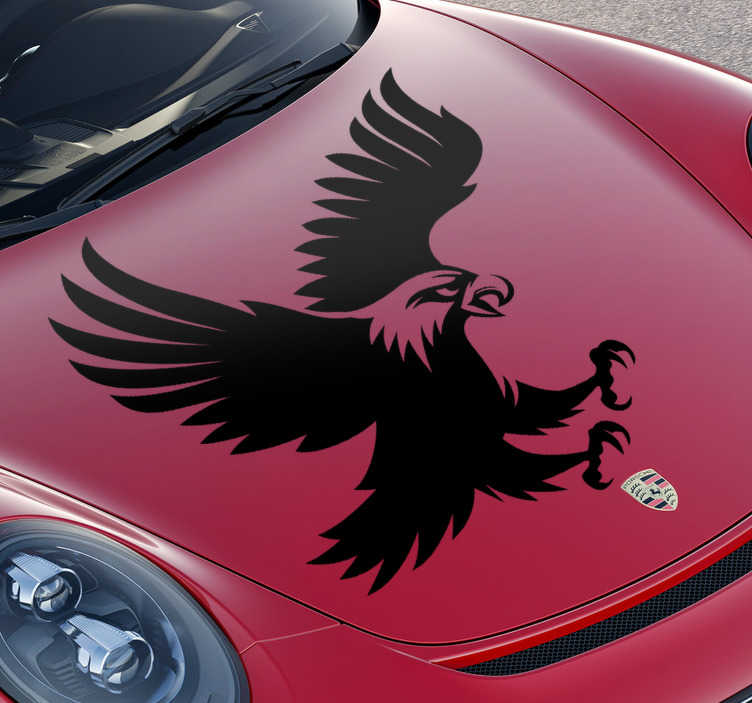 TenStickers. Eagle Car Decal. Decorative car vinyl sticker with the design of an eagle. Available in different sizes an colours. Easy to apply and self adhesive.