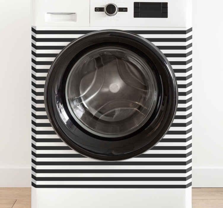 TenStickers. Stickers pour lave-linge. Autocollant décoratif avec un design floral. Ne laissez pas la machine à laver avoir l'air ennuyeuse. Achetez nos vinyles décoratifs de qualité pour lui donner vie.