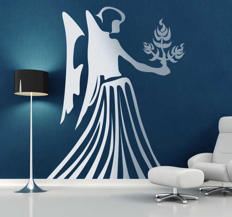 TenStickers. Naklejka znak astrologiczny panna. Naklejka dekoracyjna przedstawiająca znak astrologiczny panna. Świetny pomysł na dekorację salonu dla wszystkich posiadaczy znaku zodiaku: panna.