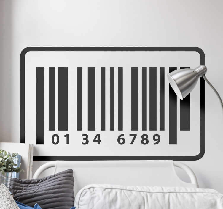 TenStickers. Bar code Abstract Sticker. Decorative bar code wall stikcer for home and any space of choice. Available in any size and colour. Easy to apply and highly durable.