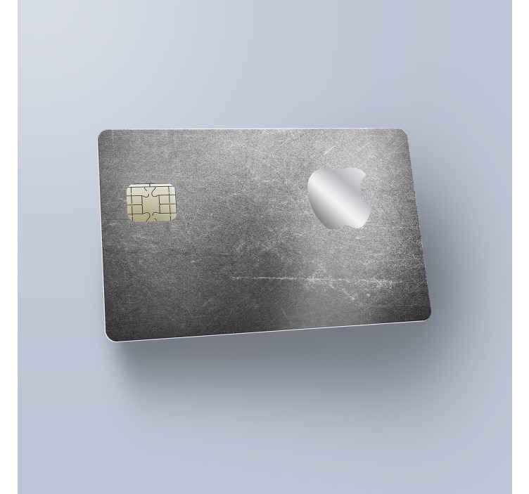 TenVinilo. Vinilo adhesivo tarjeta gris Apple. Vinilo tarjeta de crédito o débito de primera calidad con un diseño gris y la manzana Apple para renovar tu tarjeta ¡Envío a domicilio!