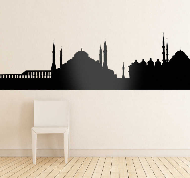 TenStickers. Istanbul Silhouette Wall Sticker. Wall Stickers - Silhouette design of the Istanbul skyline. Ideal for those who love the city and its monuments. Available in 50 colours.