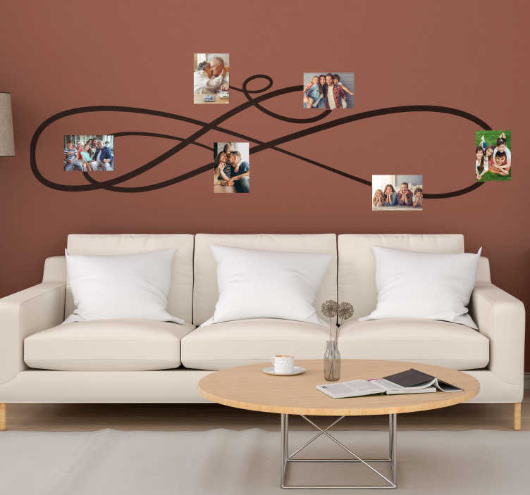 TenStickers. Family photos portrait frame decal. Decorative family photo frame wall sticker  for living room. Available in different colours and sizes. Easy to apply and adhesive.