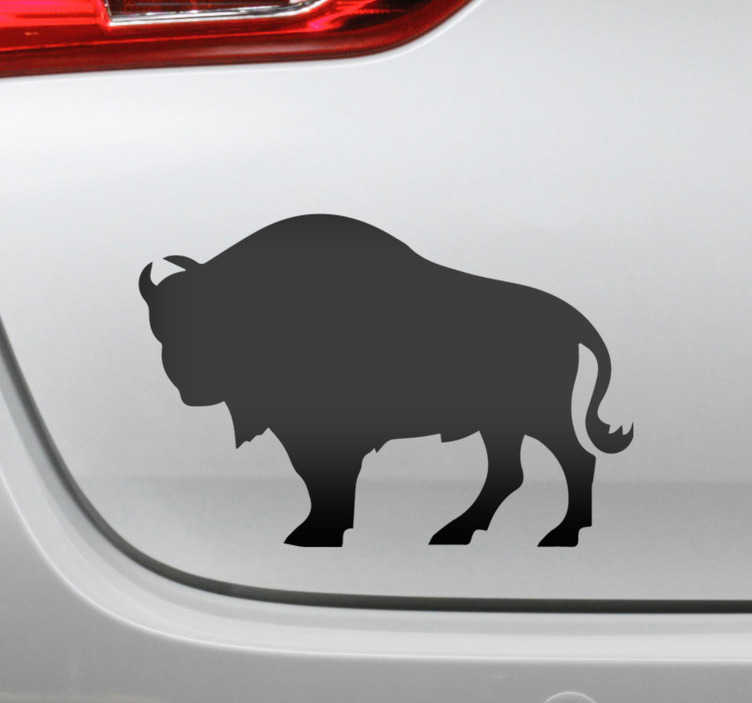 TenStickers. Polish bison car Decal. Polish bison silhouette car vinyl sticker to decorate any vehicle of choice. It is available in different colours and size options.