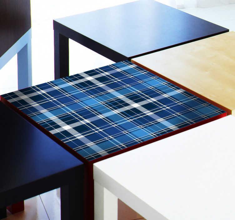 TenStickers. Adesivo per mobile strisce tavolo ikea. Adesivo in vinile per mobili con motivo a strisce ikea. Disponibile in qualsiasi dimensione richiesta per decorare armadi, tavoli e cassetti in casa.