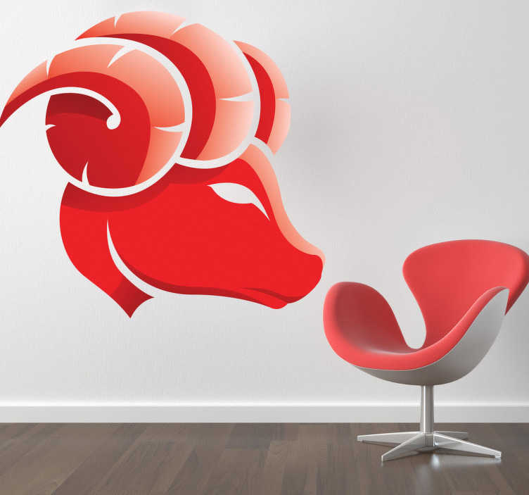 TenStickers. Aries Zodiac Sign Wall Sticker. Wall Stickers - Aries star sign. Ideal for those born during the period of 21 March - 19 April .