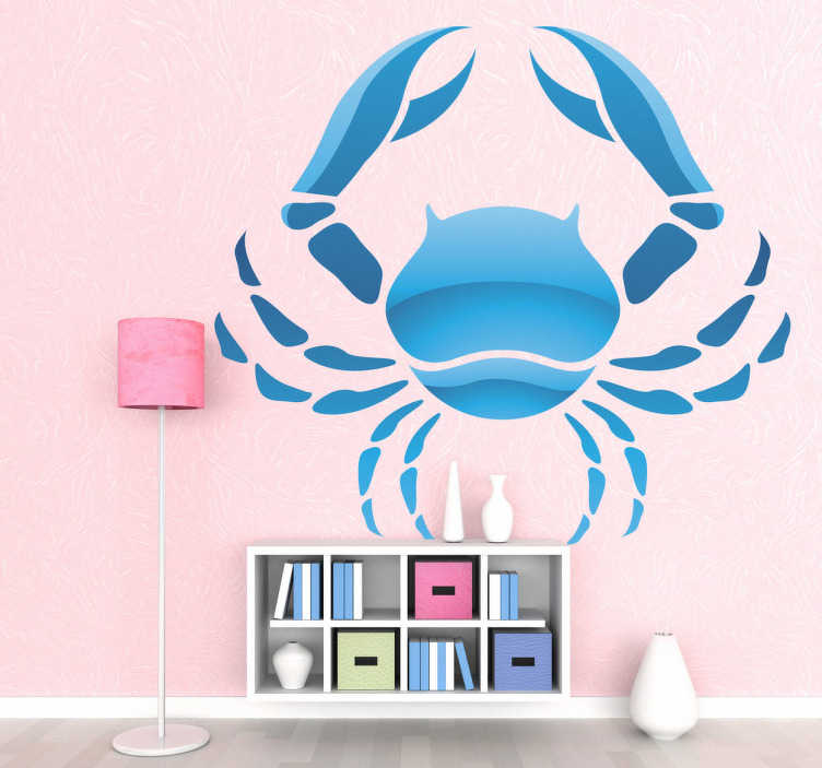 TenStickers. Cancer Zodiac Sign Wall Sticker. Wall Stickers - Cancer star sign. Ideal for those born during the period of 21 June - 22 July.
